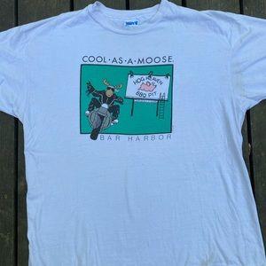 Cool as a moose bar harbor tee
